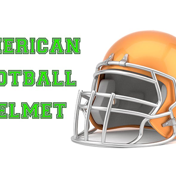 American Football Helmet Model
