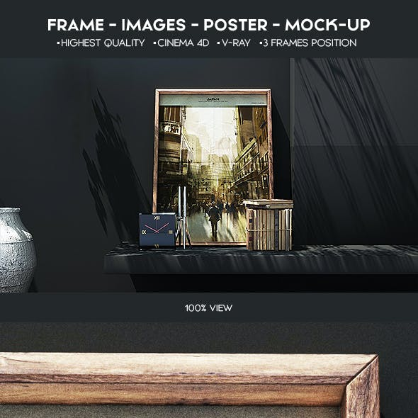 Poster Mock-Up Cinema 4d+Vray