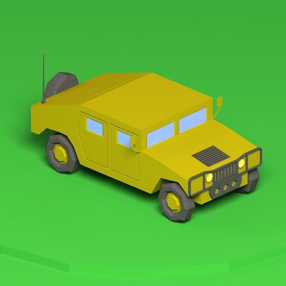 Low poly Humvee - 3DOcean Item for Sale