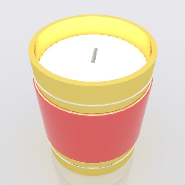 Christmas candle decoration - 3DOcean Item for Sale