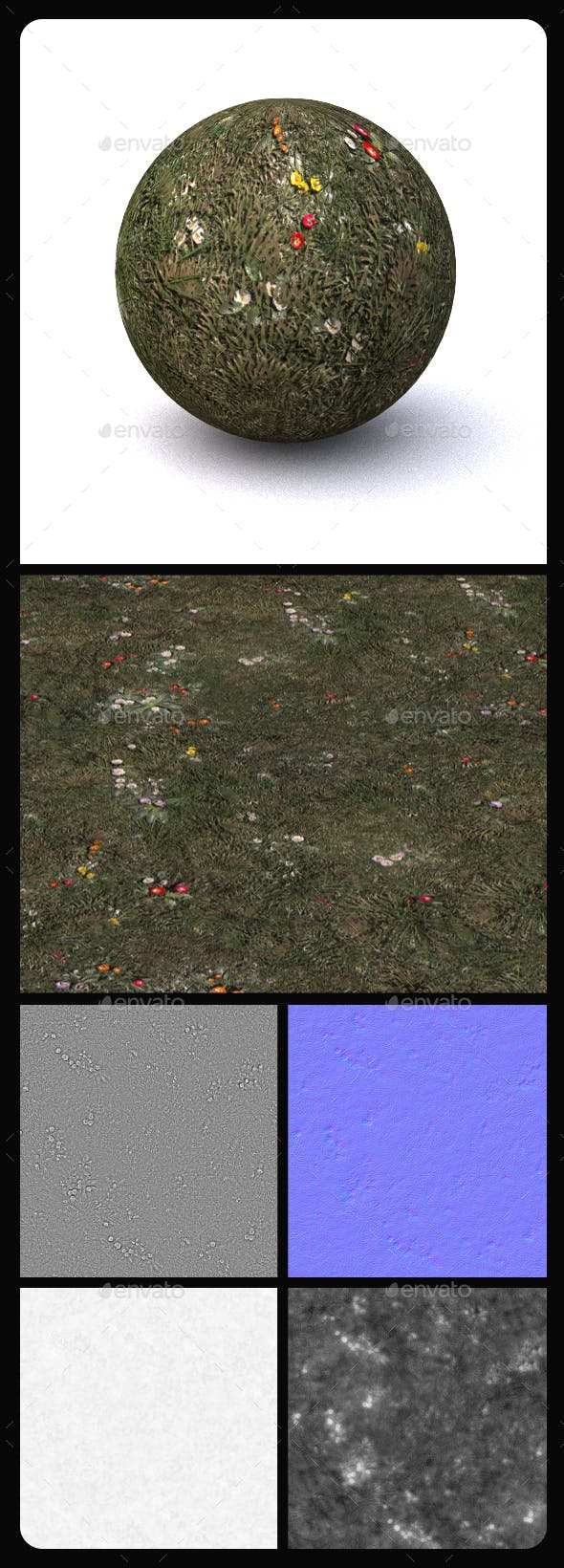 Grass Tile Texture 7 - 3DOcean Item for Sale