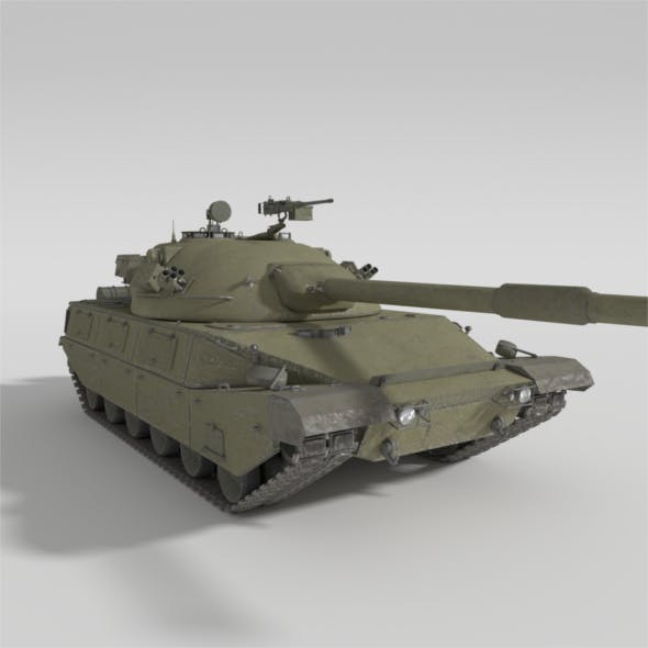 ABT-120 - Realistic Cold War Era MBT - 3DOcean Item for Sale