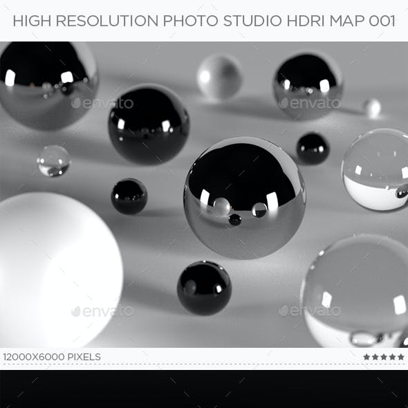 High Resolution Photo Studio HDRi Map 001