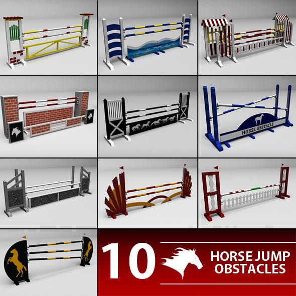 Horse jump obstacle pack - 3DOcean Item for Sale