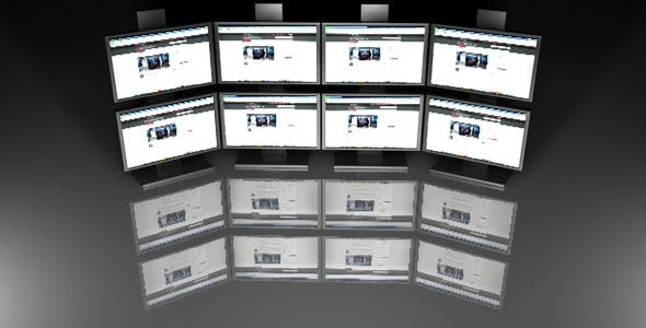Flat Screen TV Wall - 3DOcean Item for Sale