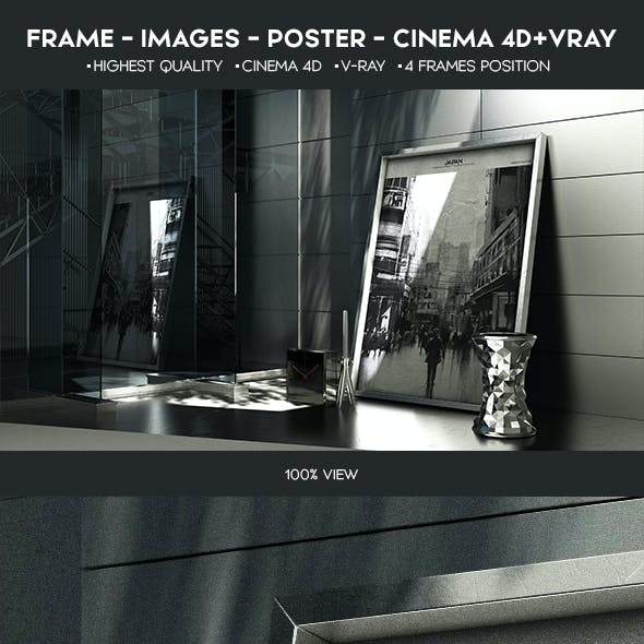 Frame Images Poster Mock-Up