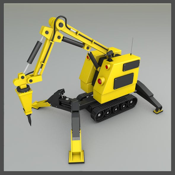 Remote Construction Robot - 3DOcean Item for Sale