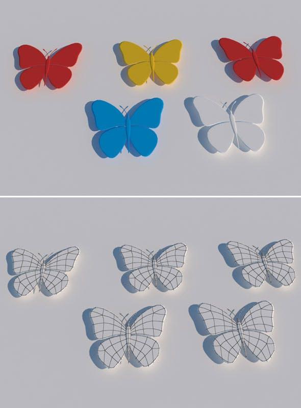 Butterfly 3d Model - 3DOcean Item for Sale