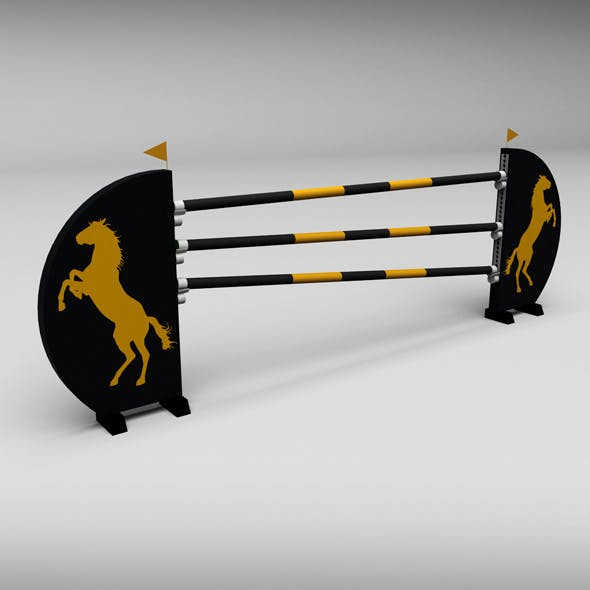 Horse jump obstacle 07