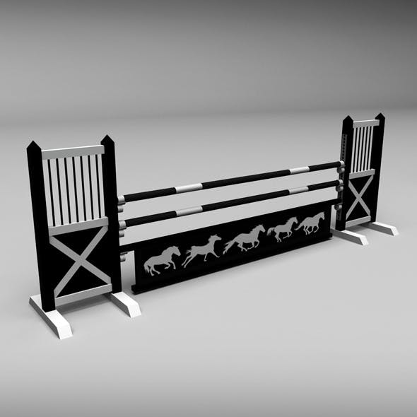 Horse jump obstacle 08 - 3DOcean Item for Sale