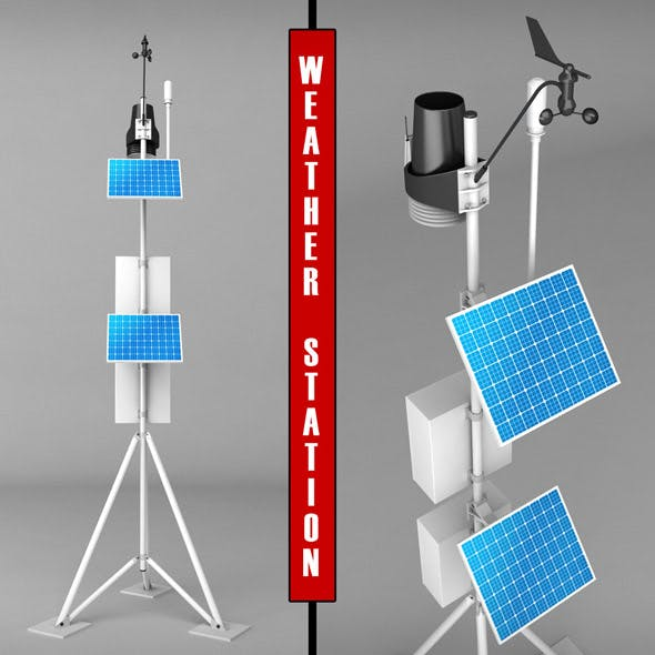 Weather meteo station high detail