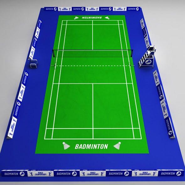 Badminton court arena