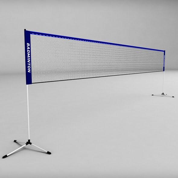 Badminton net low poly