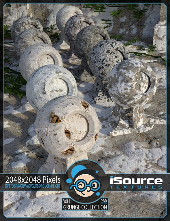 Grunge Collection - Vol1(PBR Textures) Merchant Resource - 3DOcean Item for Sale