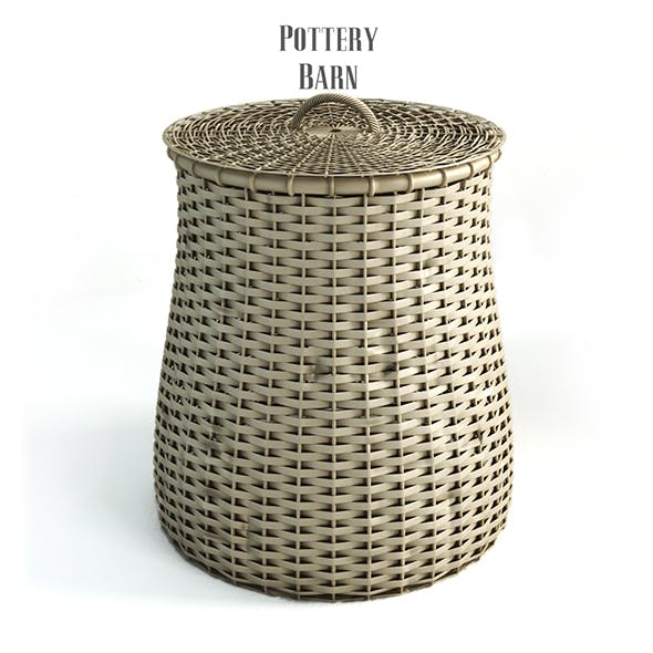Pottery barn, Grain Basket. - 3DOcean Item for Sale