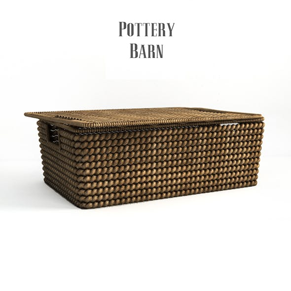 Pottery barn, Woven havana basket.