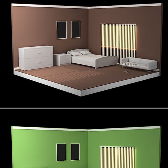 Isometric Bed Room Model