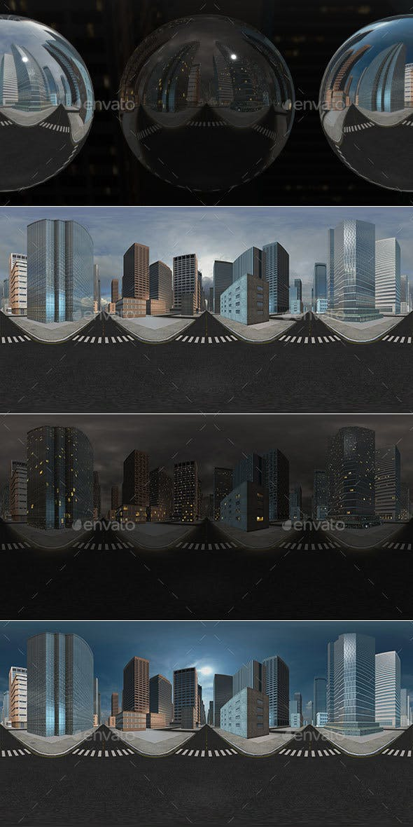 HDRI City Pack Layout2 V1 - 3DOcean Item for Sale