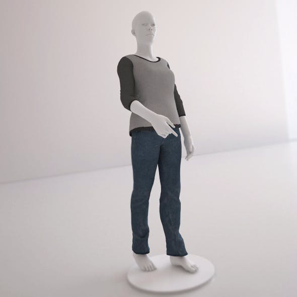 Rig Woman Mannequin - 3DOcean Item for Sale