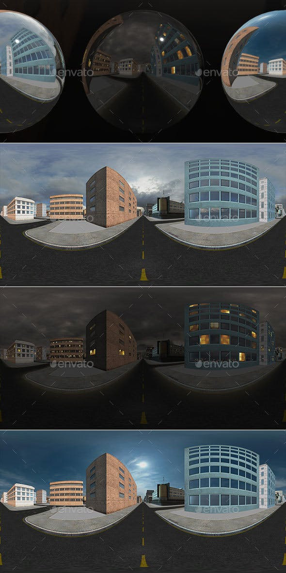 HDRI City Pack Layout6 V2 - 3DOcean Item for Sale