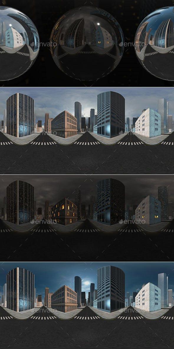 HDRI City Pack Layout3 V1 - 3DOcean Item for Sale