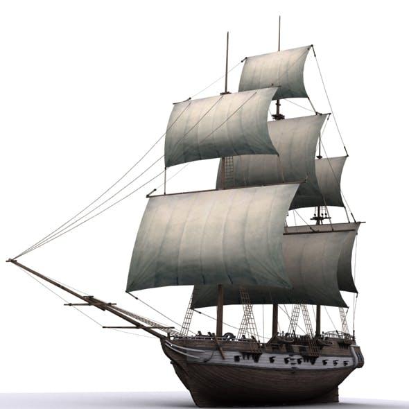 Warship brig - 3DOcean Item for Sale