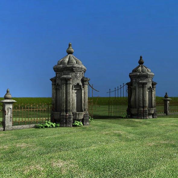 Old Gate - 3DOcean Item for Sale