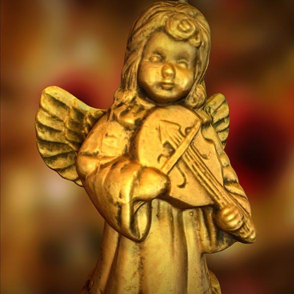 Angel Christmas Candle