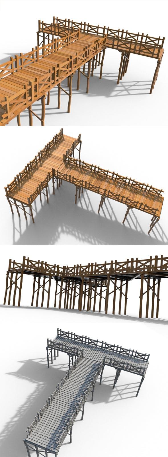Wooden Pier - 3DOcean Item for Sale