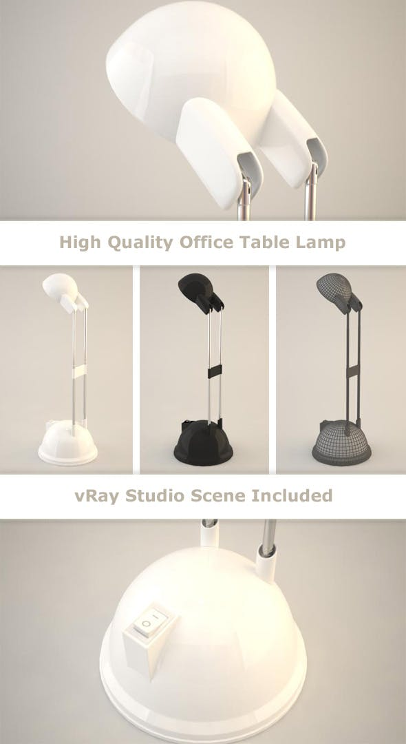 Office Table Lamp - 3DOcean Item for Sale