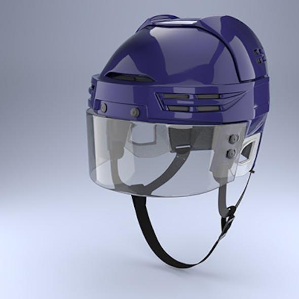 Ice Hockey with Glass Visor Model