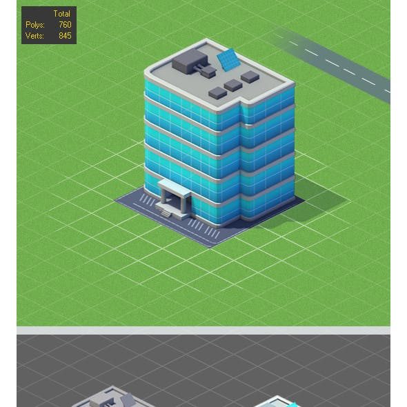 Low Poly Hotel Mini Game