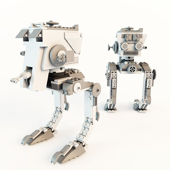 Star Wars AT-ST Lego