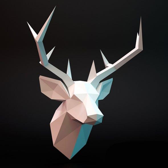 Deer head lowpoly