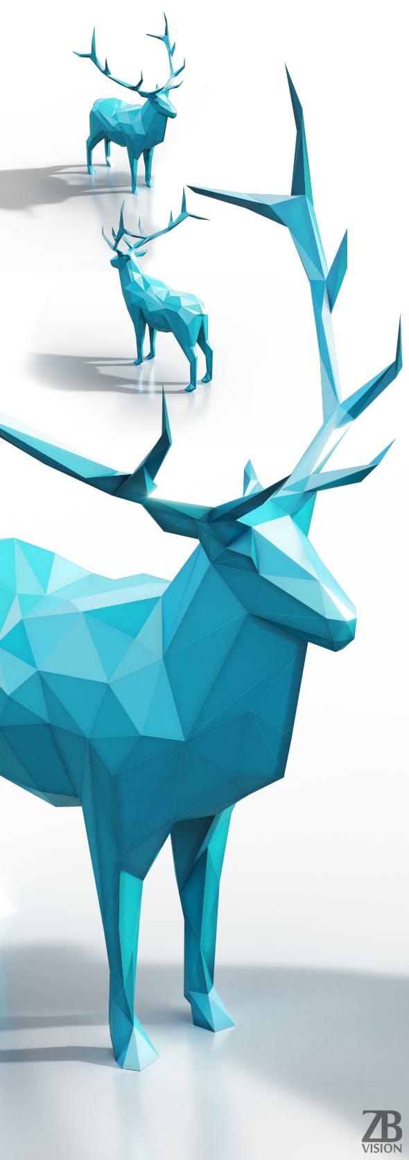 Lowpoly Elk - 3DOcean Item for Sale