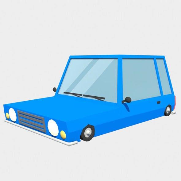 blue car low poly