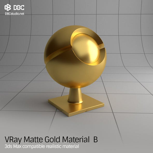 3ds Max V-Ray (Ver 3.4) Matte Gold Material B - 3DOcean Item for Sale
