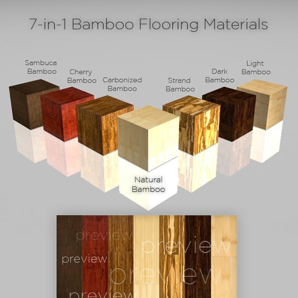 7-in-1 Bamboo Flooring Materials