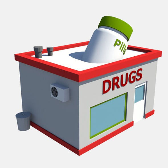 low poly drug store