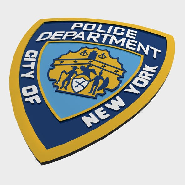NYPD Police Department logo - 3DOcean Item for Sale