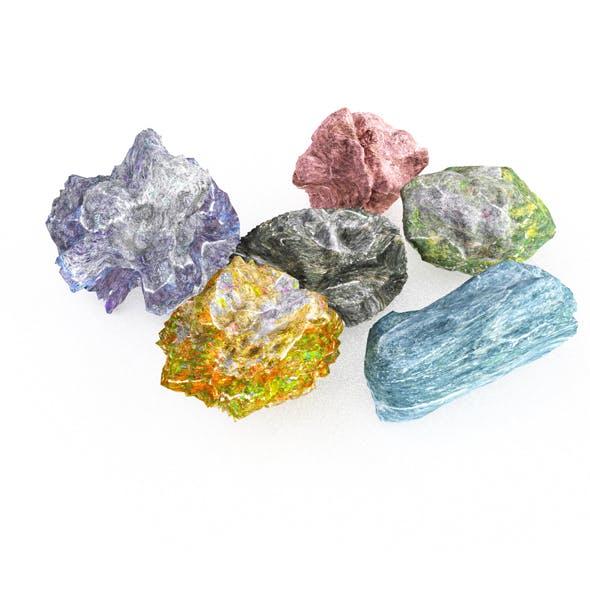 Rock 6 Type Boulder - 3DOcean Item for Sale