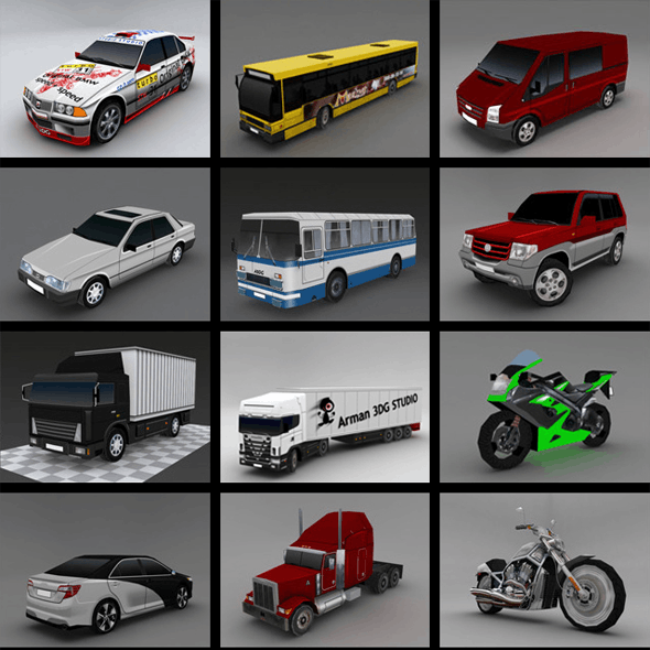Cars Pack - Low Poly