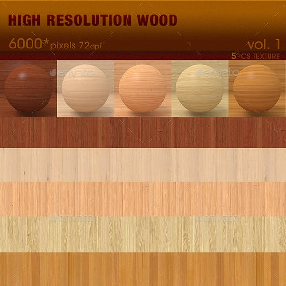 High Resolution Wood Textures Vol. 1