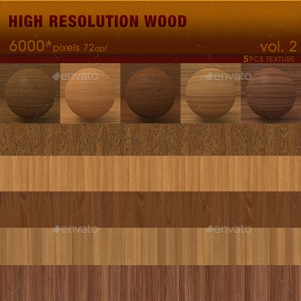 High Resolution Wood Textures Vol. 2