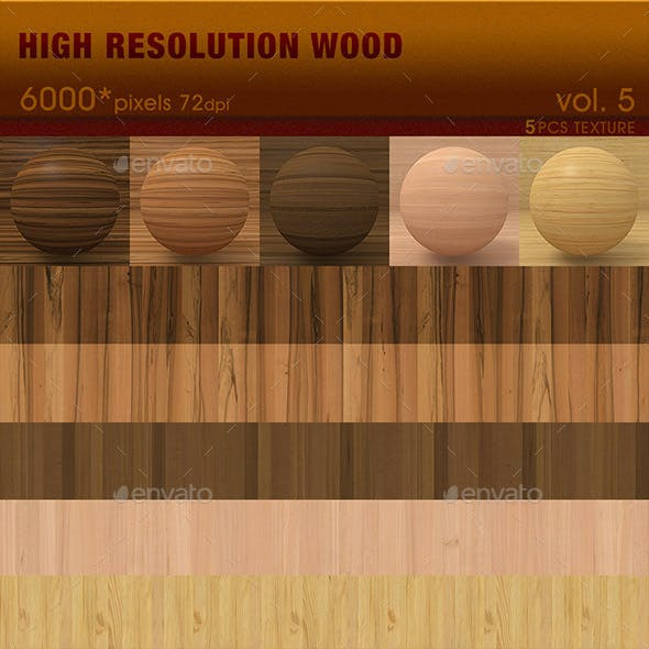 High Resolution Wood Textures Vol. 5