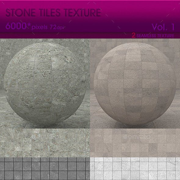 High Resolution Stone Tiles Texture Vol.1 (2 PCS) - 3DOcean Item for Sale