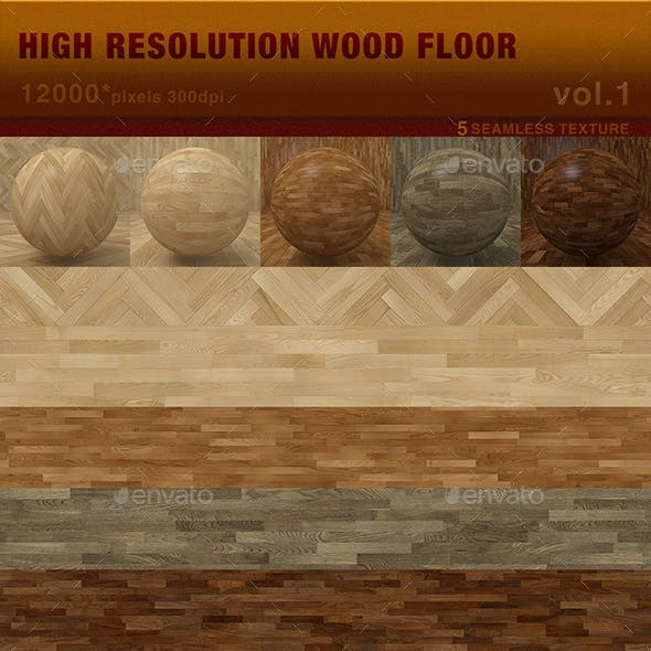 High Resolution Wood Floor Textures Vol. 1