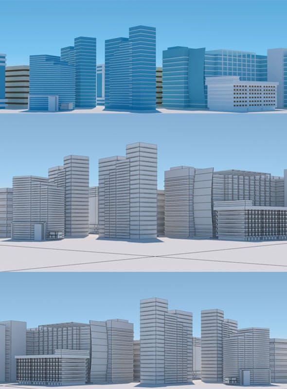 Random City Building - 3DOcean Item for Sale