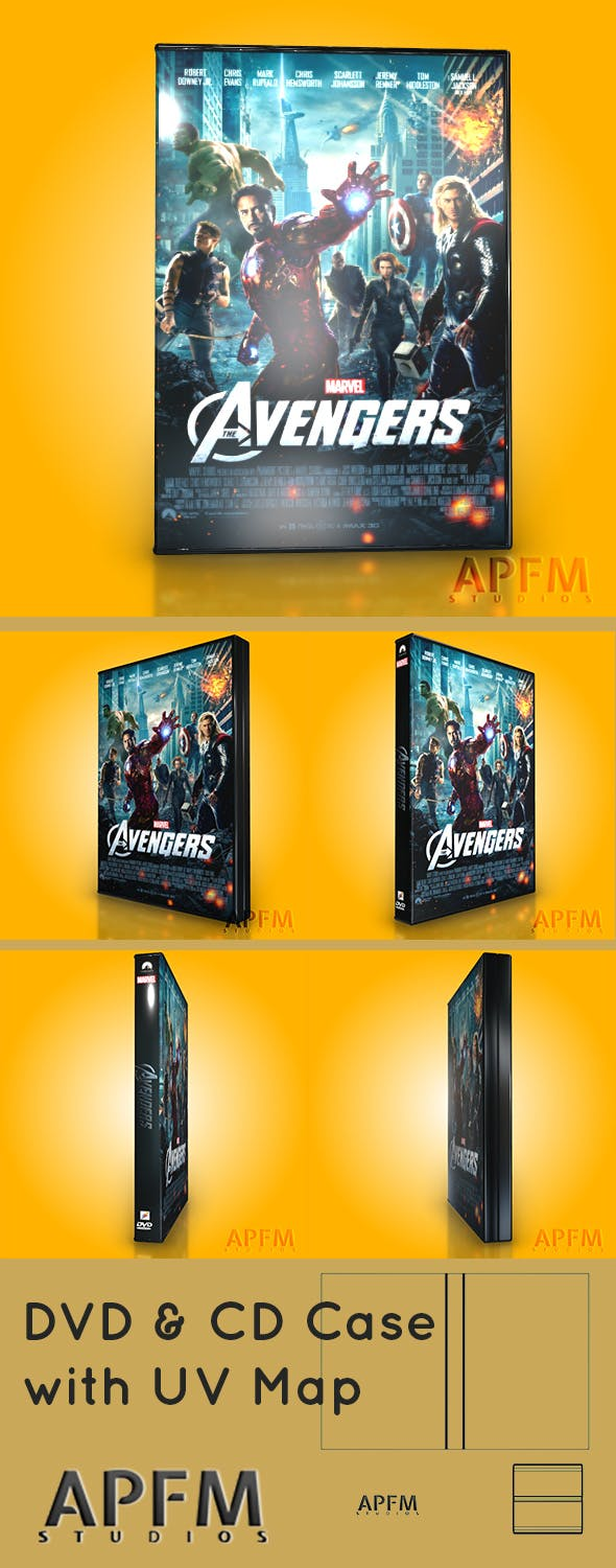 DVD & CD Case 3D Model With UV Layout - 3DOcean Item for Sale