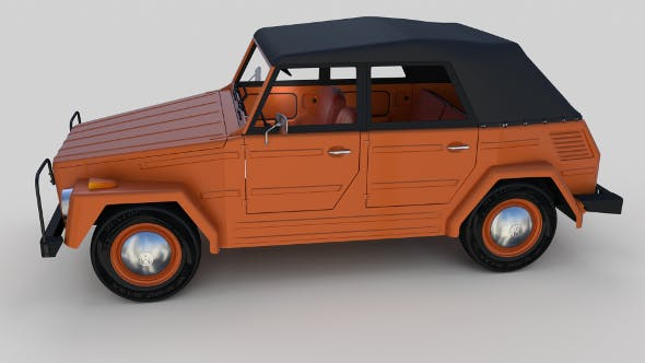 VW Type 181 w interior top up - 3DOcean Item for Sale